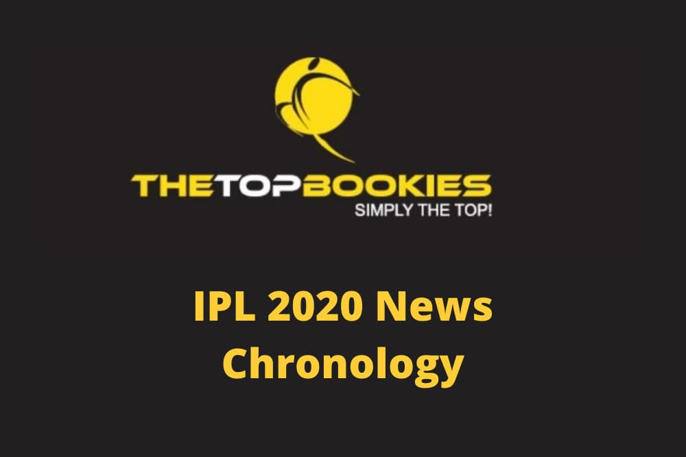 IPL 2020 – News Chronology