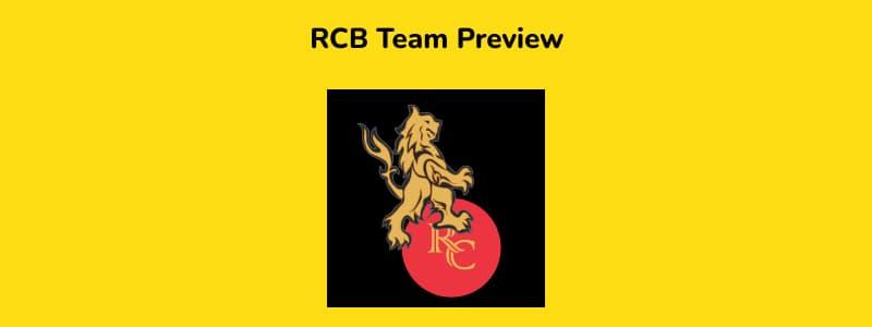 RCB - IPL 2021 in UAE Team Preview